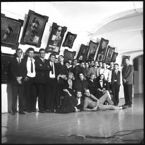 Ob razstavi v Galeriji Equrna, Ljubljana, 1990,  foto Franci Virant